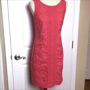 Eliza J Dresses - ELIZA J Coral Crochet Sleeveless Sheath Dress 6